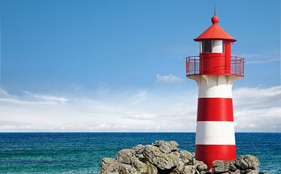 entreprise responsabilisante, phare en pleine mer